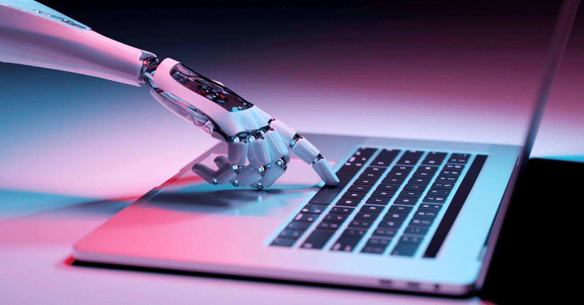 robotic hand sending automated queries